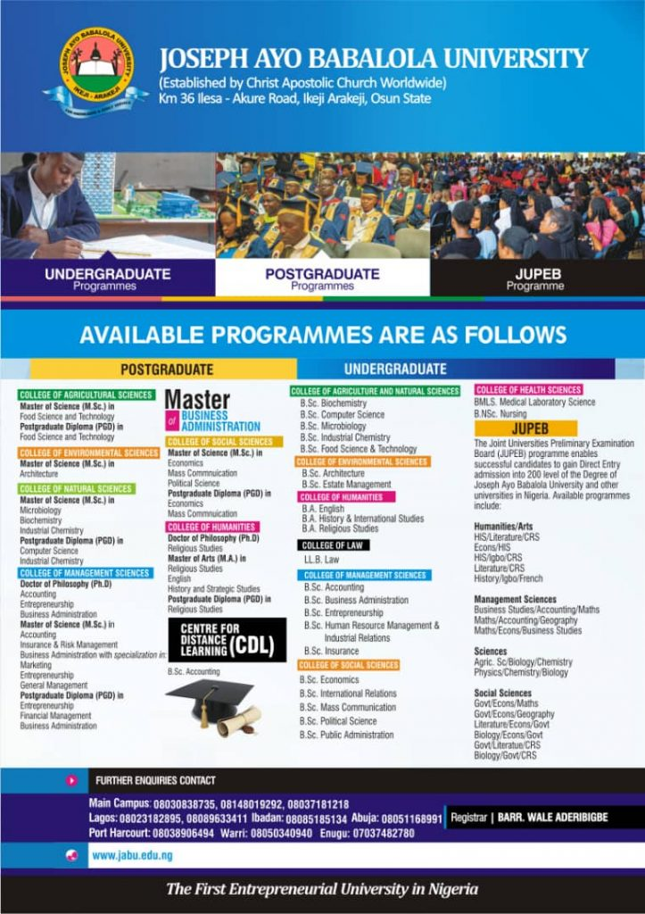 Available Programmes 2021